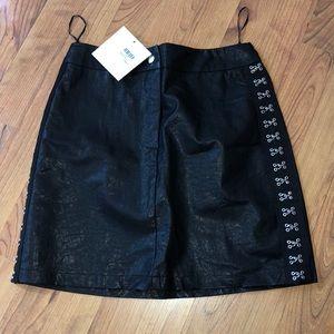 Seek faux leather skirt